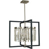 Framburg Chandeliers Brushed Nickel/Matte Black 5-Light Brushed Nickel/Matte Black Hannah Chandelier by Framburg 5335