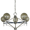 Framburg Chandeliers Polished Nickel with Matte Black Accents 5-Light Calista Dining Chandelier by Framburg 5065