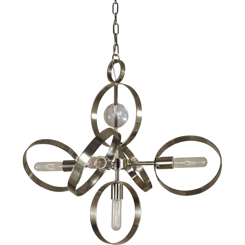 Framburg Chandeliers Polished Nickel 5-Light Copernicus Dining Chandelier by Framburg 5064