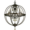 Framburg Foyer Chandeliers Mahogany Bronze 5-Light Mahogany Bronze Compass Foyer Chandelier by Framburg 1069