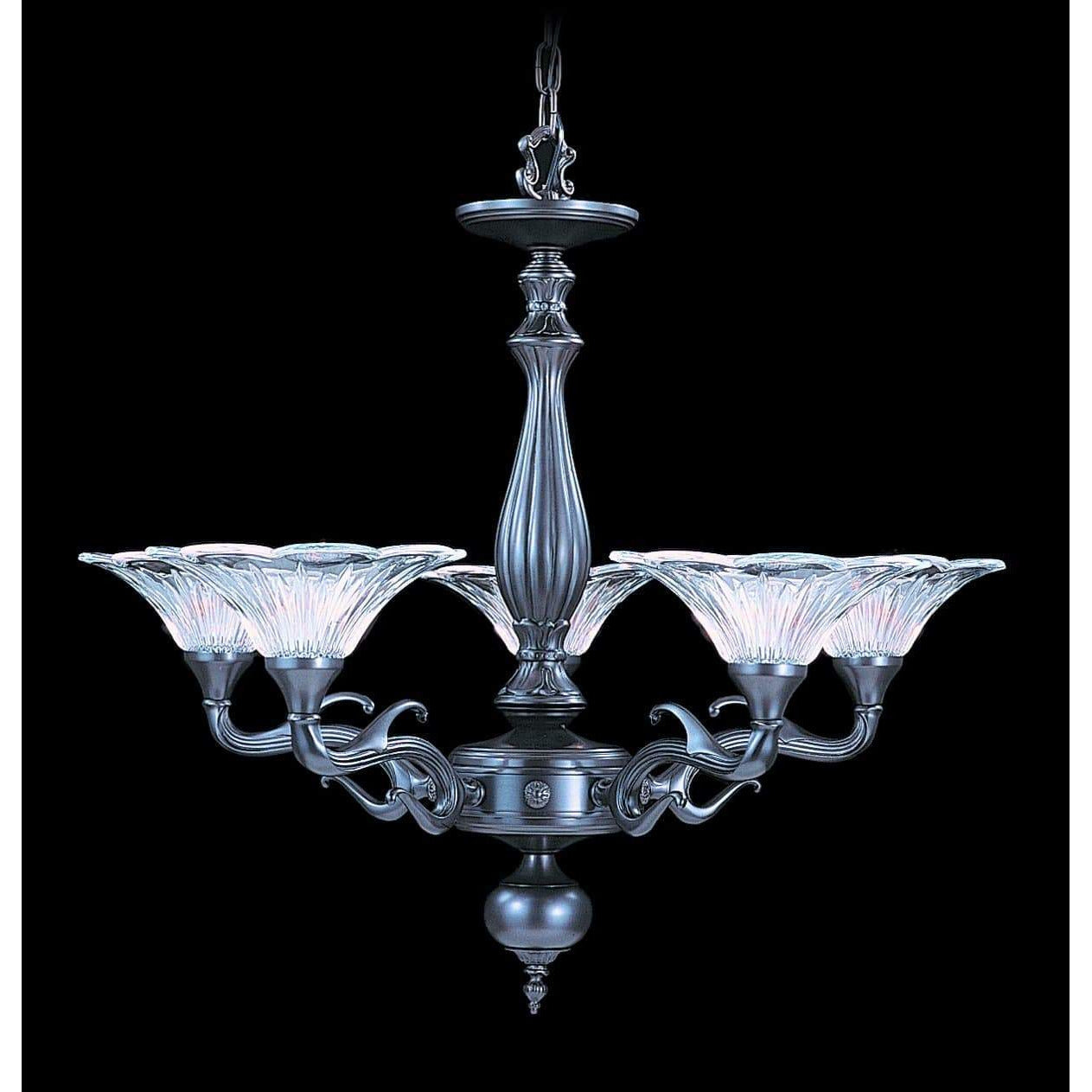 Framburg Chandeliers Mahogany Bronze 5-Light Mahogany Bronze Geneva Dining Chandelier by Framburg 8625