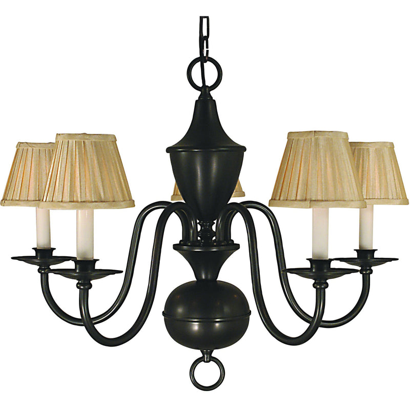 Framburg Chandeliers Mahogany Bronze 5-Light Mahogany Bronze Jamestown Dining Chandelier by Framburg 2535