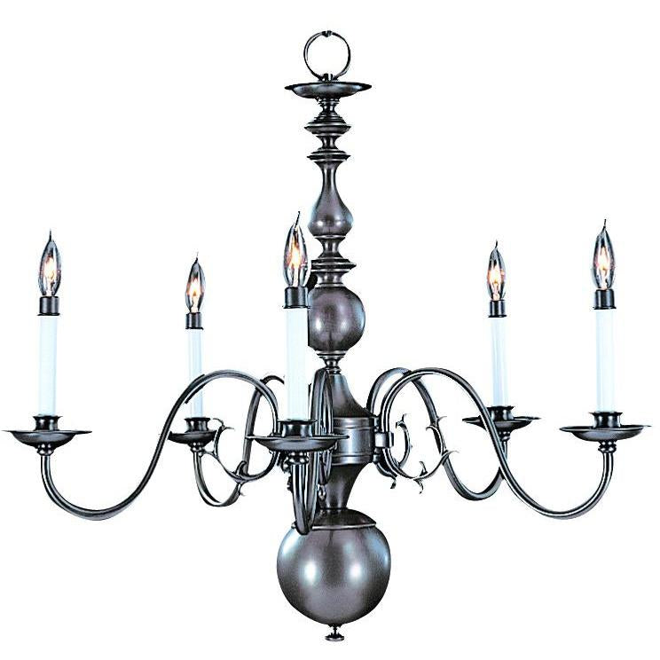 Framburg Chandeliers Mahogany Bronze 5-Light Mahogany Bronze Jamestown Dining Chandelier by Framburg 9125