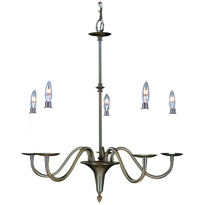 Framburg Chandeliers Mahogany Bronze 5-Light Mahogany Bronze Jamestown Dining Chandelier by Framburg 9225
