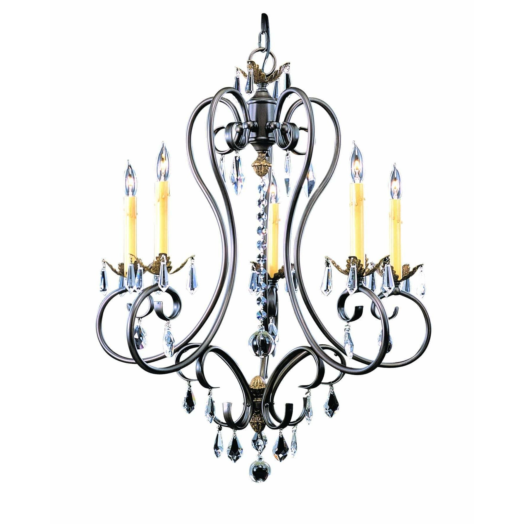 Framburg Chandeliers Mahogany Bronze 5-Light Mahogany Bronze Liebestraum Dining Chandelier by Framburg 9905