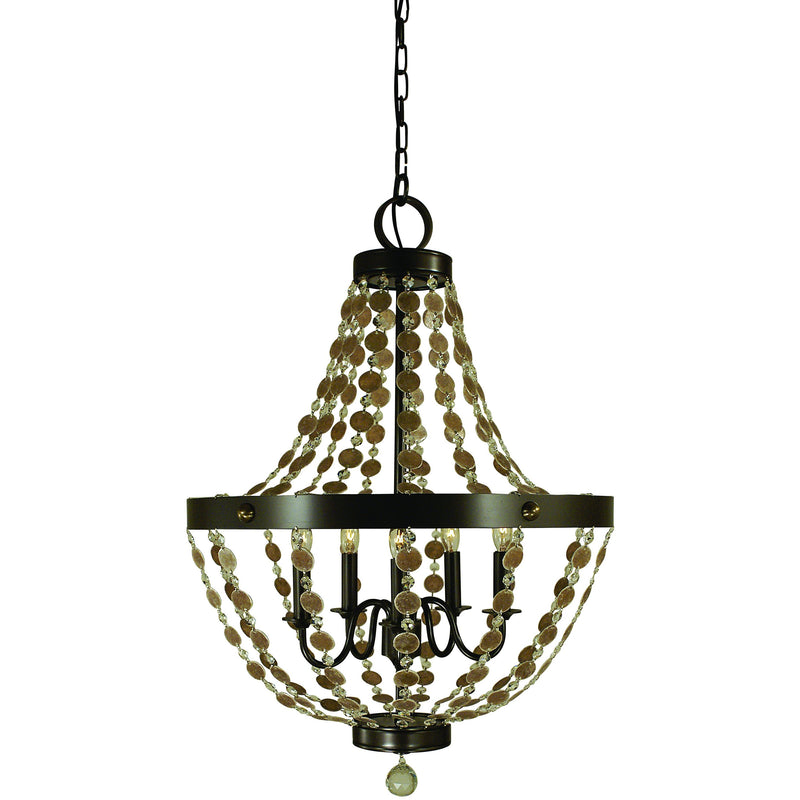 Framburg Chandeliers Mahogany Bronze 5-Light Mahogany Bronze Naomi Chandelier by Framburg 4485