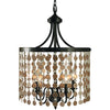 Framburg Chandeliers Mahogany Bronze 5-Light Mahogany Bronze Naomi Dining Chandelier by Framburg 2485