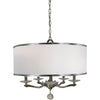 Framburg Chandeliers Polished Nickel 5-Light Polished Nickel Glamour Chandelier by Framburg 4996