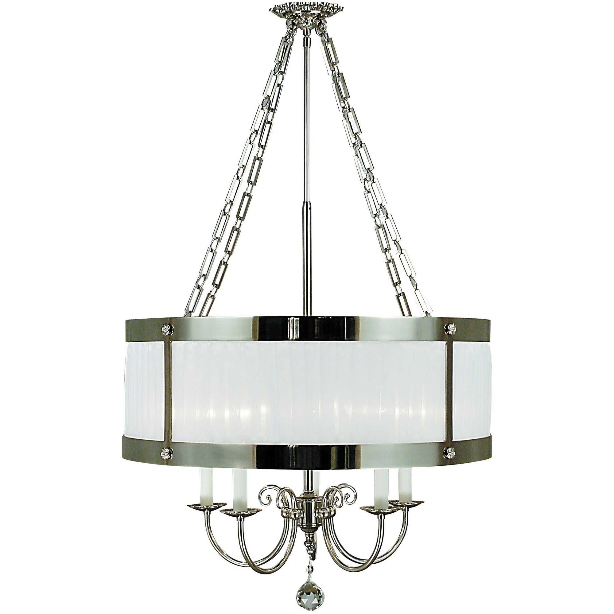 Framburg Chandeliers Polished Silver 5-Light Polished Silver Astor Dining Chandelier by Framburg 2175