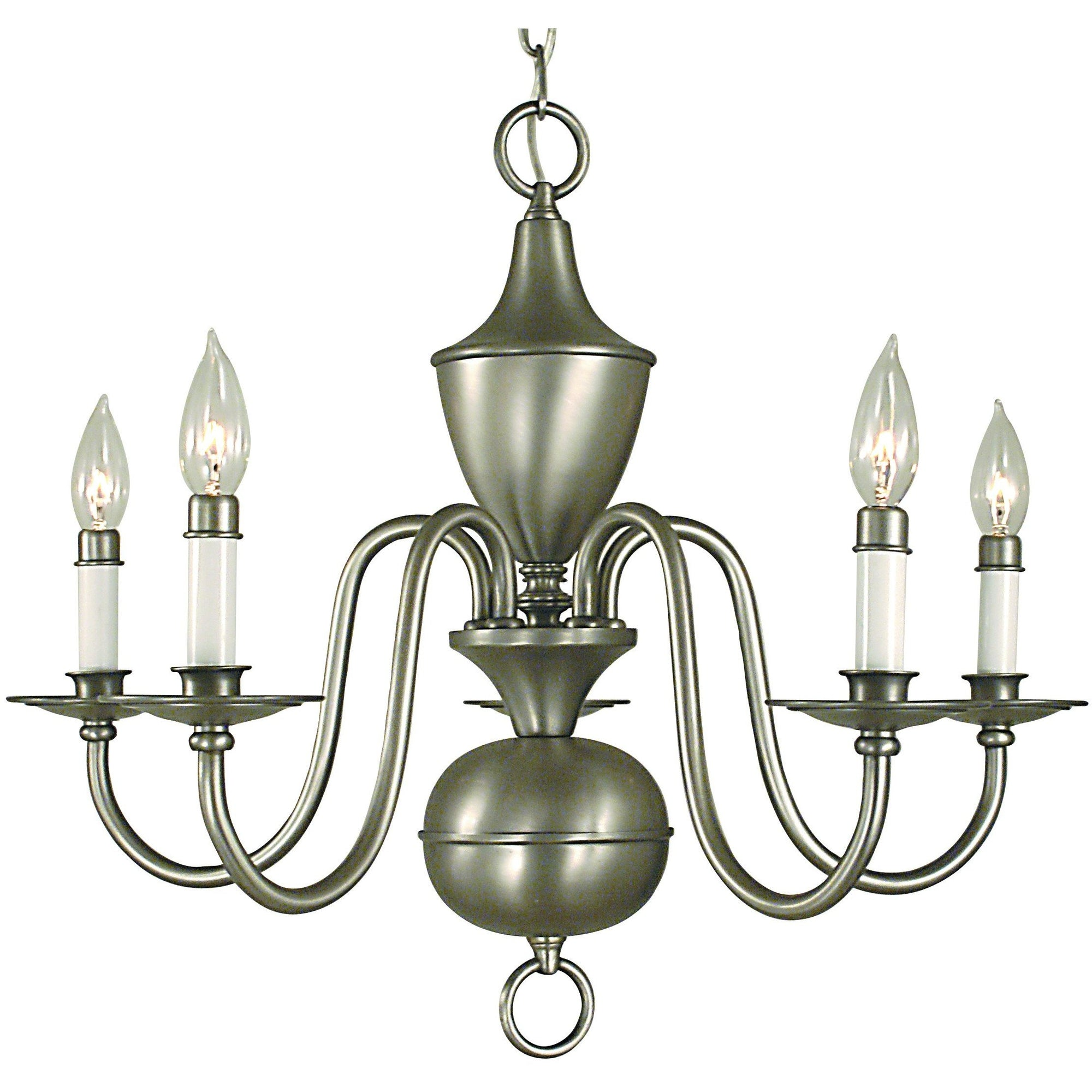 Framburg Chandeliers Satin Pewter 5-Light Satin Pewter Jamestown Dining Chandelier by Framburg 2525