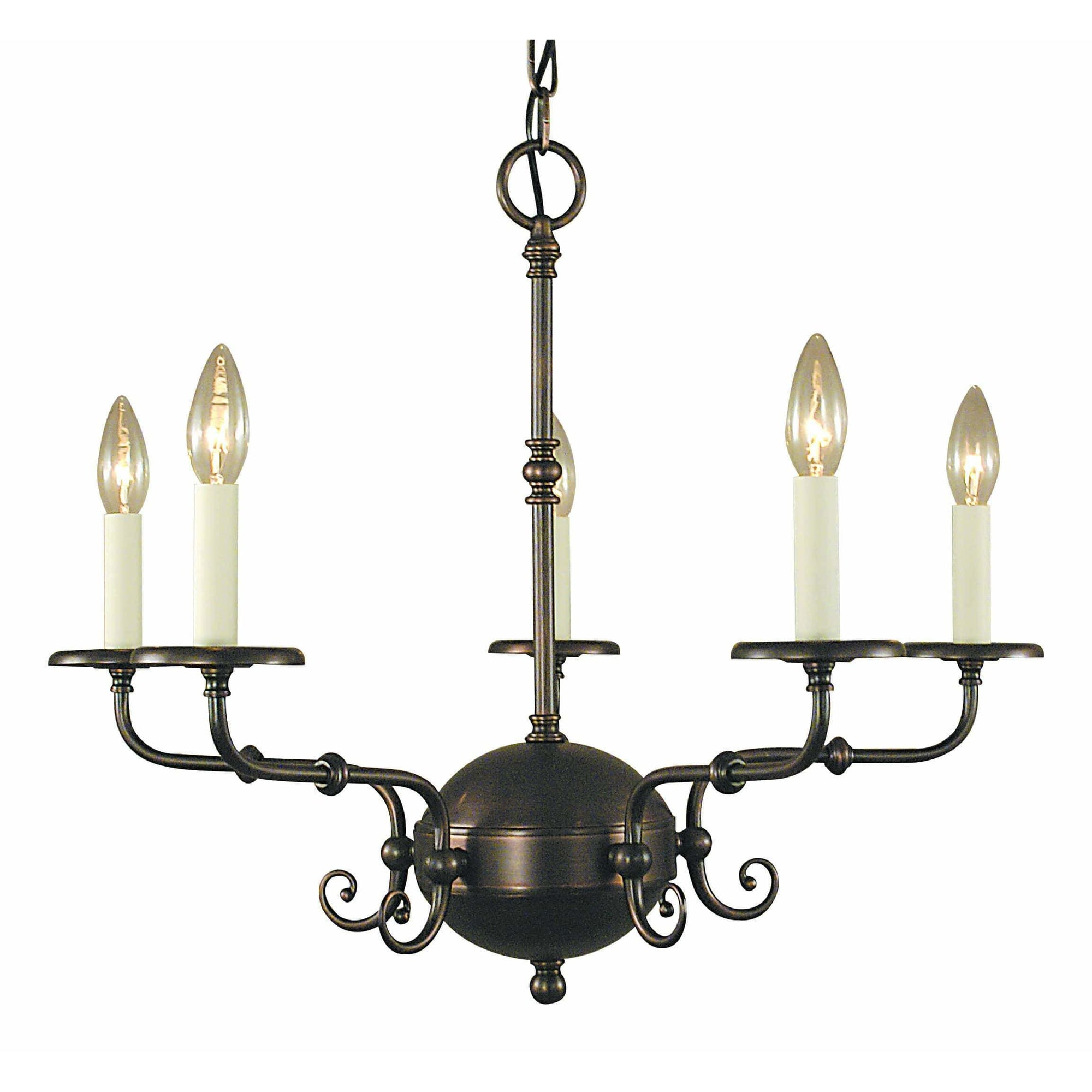 Framburg Chandeliers Siena Bronze 5-Light Siena Bronze Jamestown Dining Chandelier by Framburg 2375