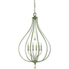 Framburg Pendants Brushed Nickel 6-Light Brushed Nickel Dewdrop Pendant by Framburg 4446