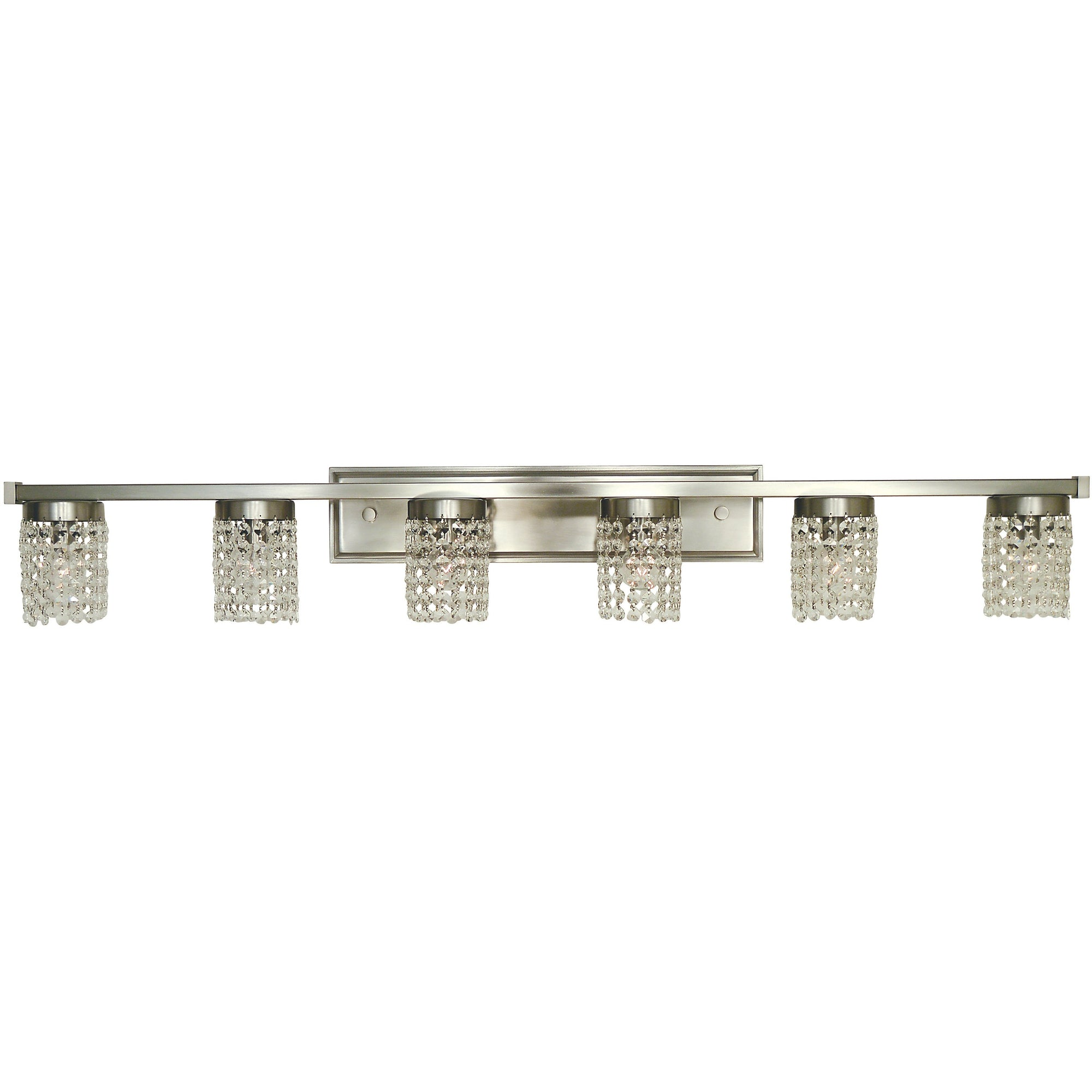 Framburg Wall Sconces Brushed Nickel 6-Light Brushed Nickel Gemini Sconce by Framburg 4746