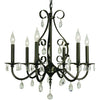 Framburg Chandeliers Mahogany Bronze 6-Light Mahogany Bronze Liebestraum Dining Chandelier by Framburg 2986