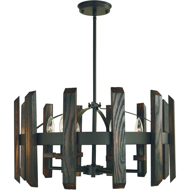 Framburg Chandeliers Matte Black 6-Light Matte Black Modern Farmhouse Dining Chandelier by Framburg 5375