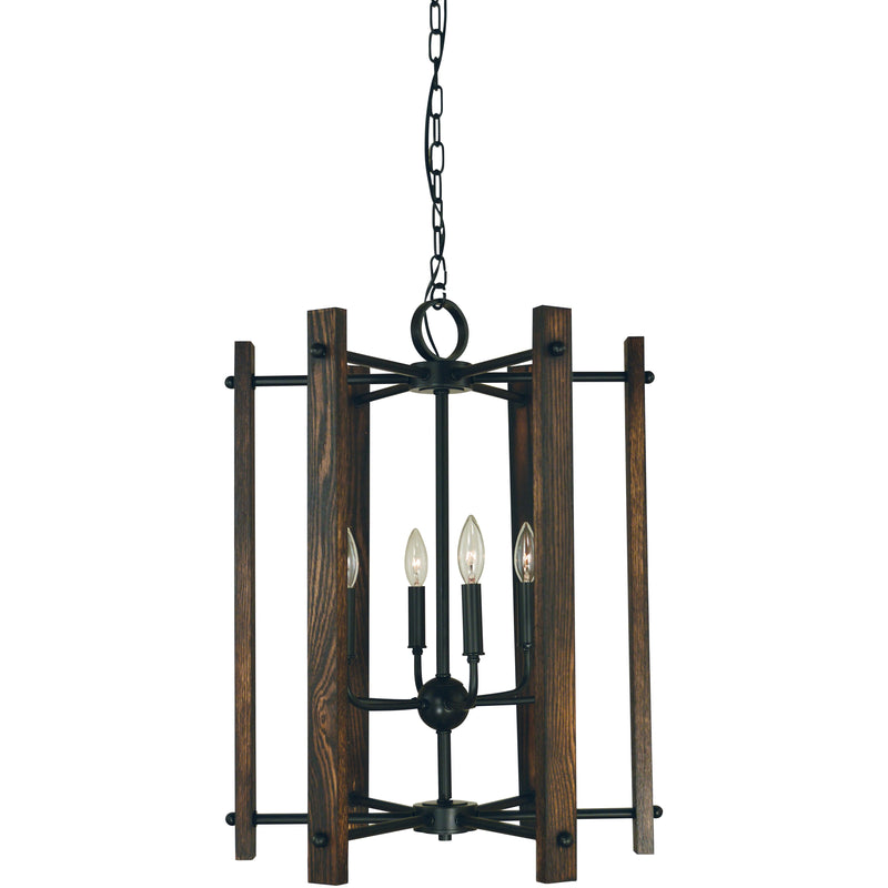 Framburg Chandeliers Matte Black 6-Light Matte Black Modern Farmhouse Dining Chandelier by Framburg 5406