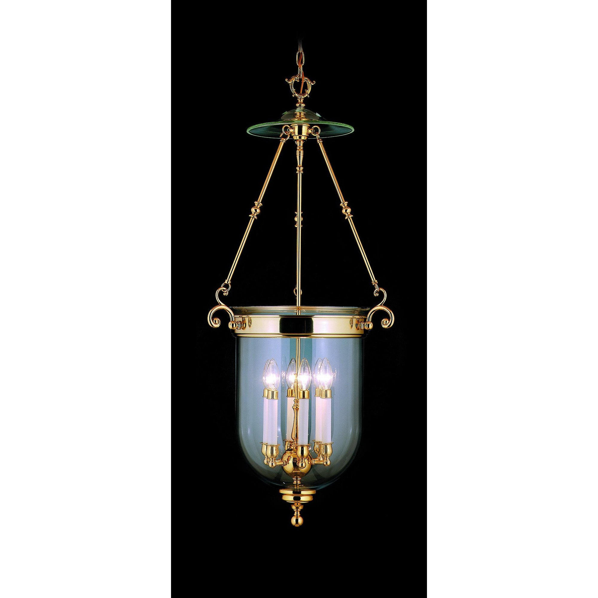 Framburg Foyer Chandeliers Polished Brass 6-Light Polished Brass Jamestown Foyer Chandelier by Framburg 7406