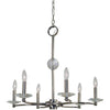Framburg Chandeliers Polished Nickel 6-Light Polished Nickel Pirouette Chandelier by Framburg 3106