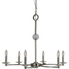 Framburg Chandeliers Polished Nickel 6-Light Polished Nickel Pirouette Chandelier by Framburg 3108