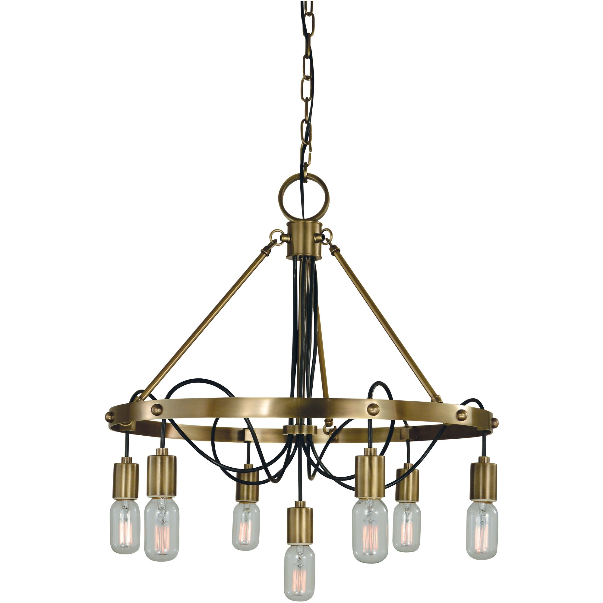 Framburg Chandeliers Antique Brass 7-Light Antique Brass Felix Dining Chandelier by Framburg 5380
