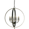 Framburg Foyer Chandeliers Mahogany Bronze 8-Light Mahogany Bronze Constellation Foyer Chandelier by Framburg 4378
