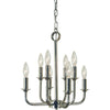 Framburg Chandeliers Polished Nickel 8-Light Polished Nickel Boulevard Chandelier by Framburg 4986