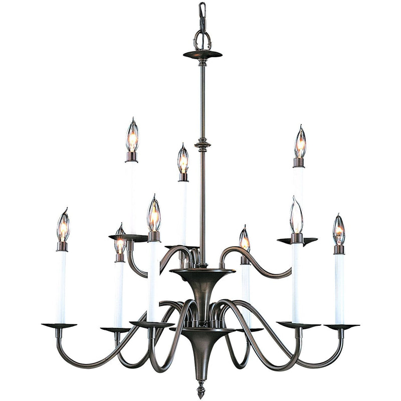 Framburg Chandeliers Mahogany Bronze 9-Light Mahogany Bronze Jamestown Dining Chandelier by Framburg 9229