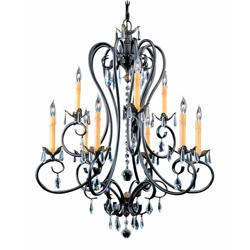 Framburg Chandeliers Mahogany Bronze 9-Light Mahogany Bronze Liebestraum Dining Chandelier by Framburg 9909