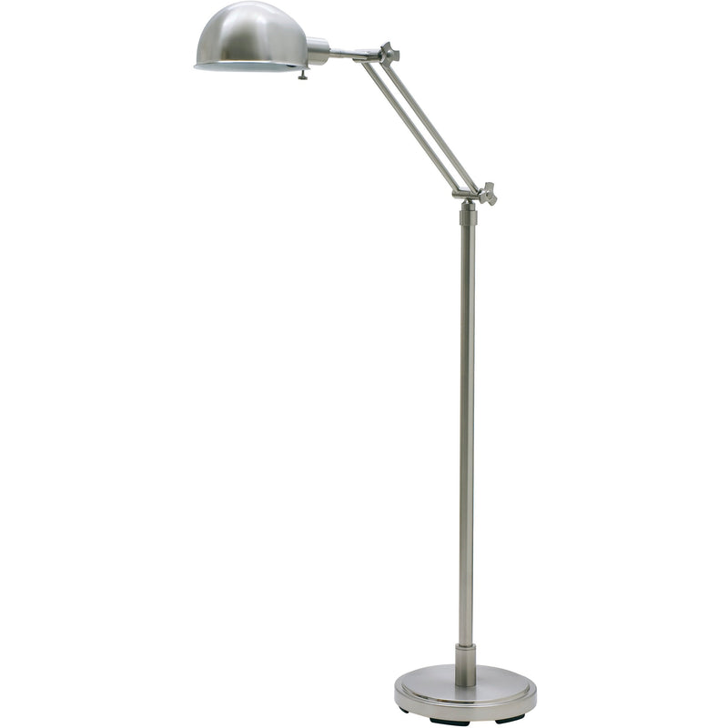 House Of Troy Floor Lamps Addison Adjustable Pharmacy Floor Lamp by House Of Troy AD400-SN