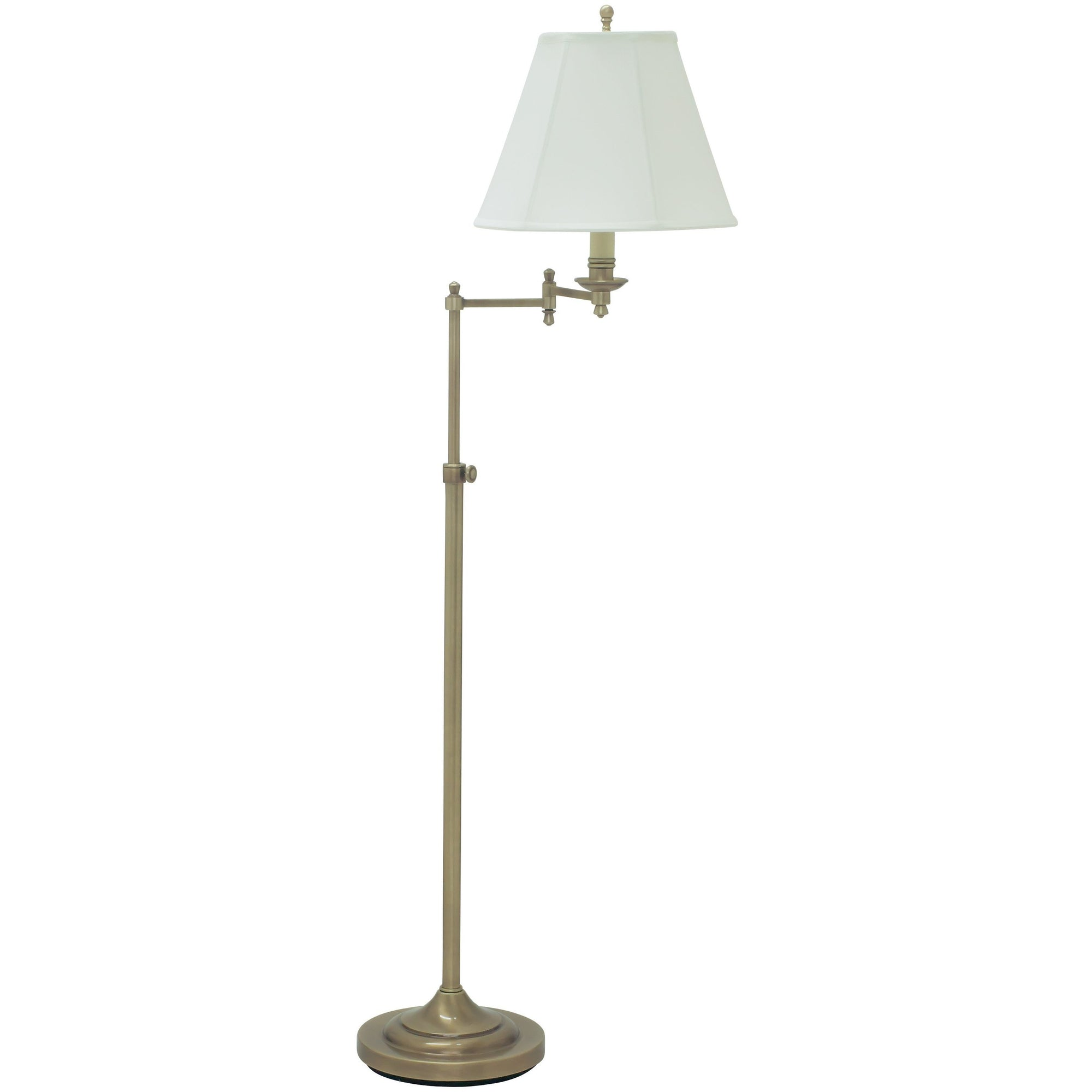 House Of Troy Floor Lamps Club Adjustable Swing Arm Floor Lamp by House Of Troy CL200-AB