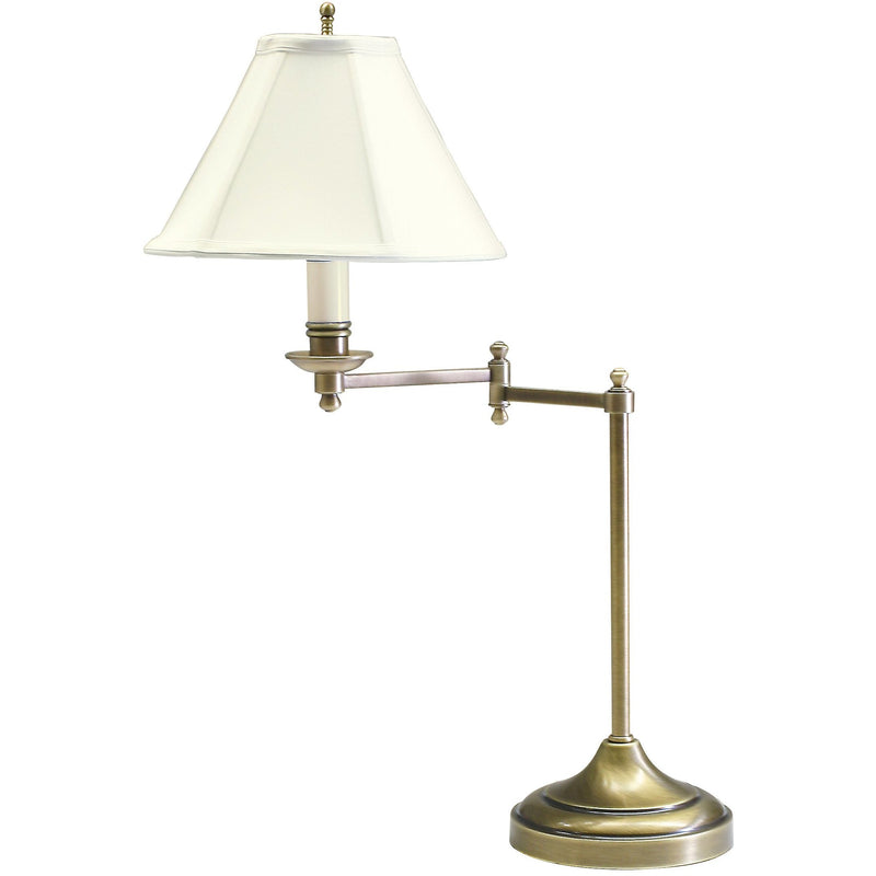 House Of Troy Table Lamps Club Swing Arm Table Lamp by House Of Troy CL251-AB