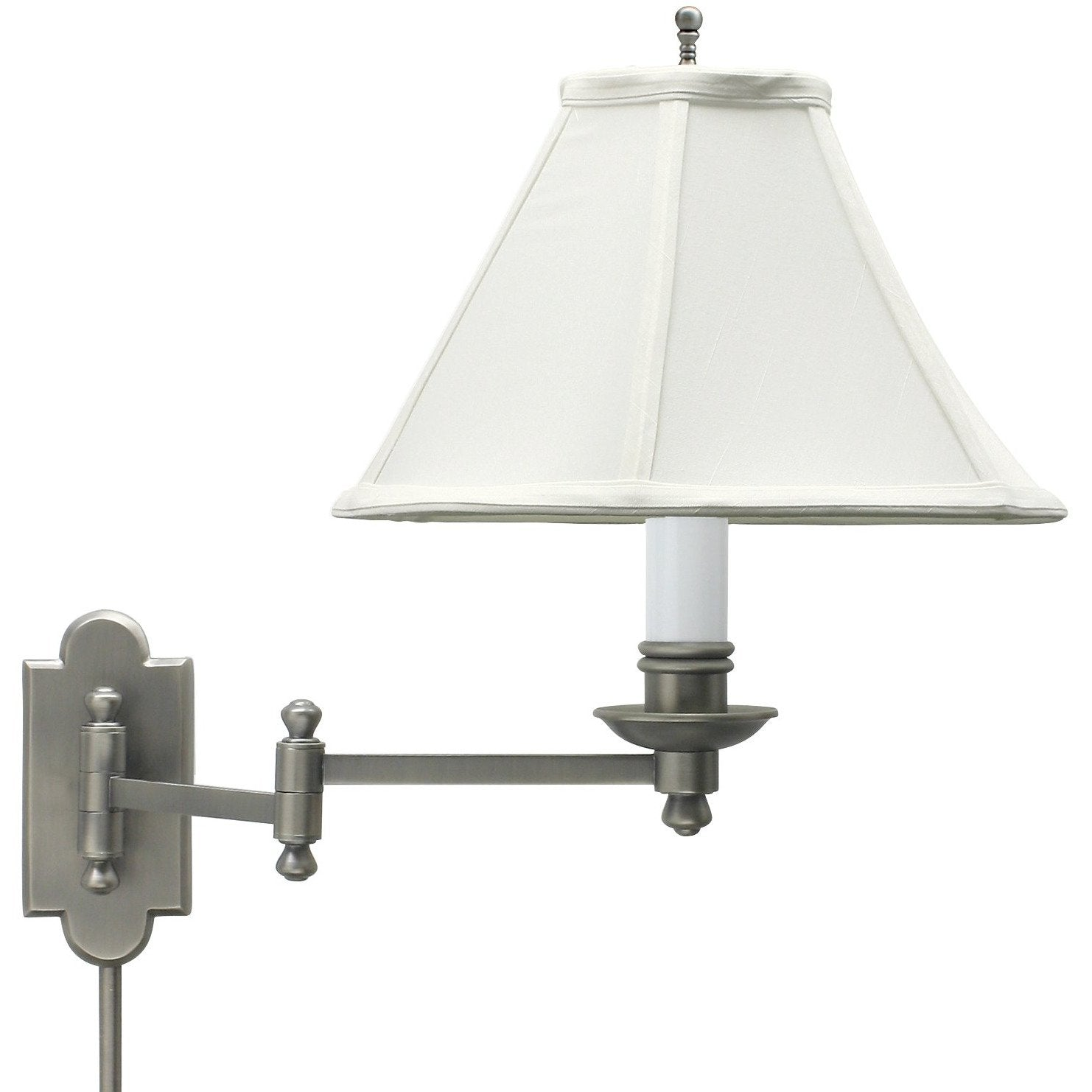 House Of Troy Wall Lamps Club Wall Swing Arm Lamp by House Of Troy CL225-AS