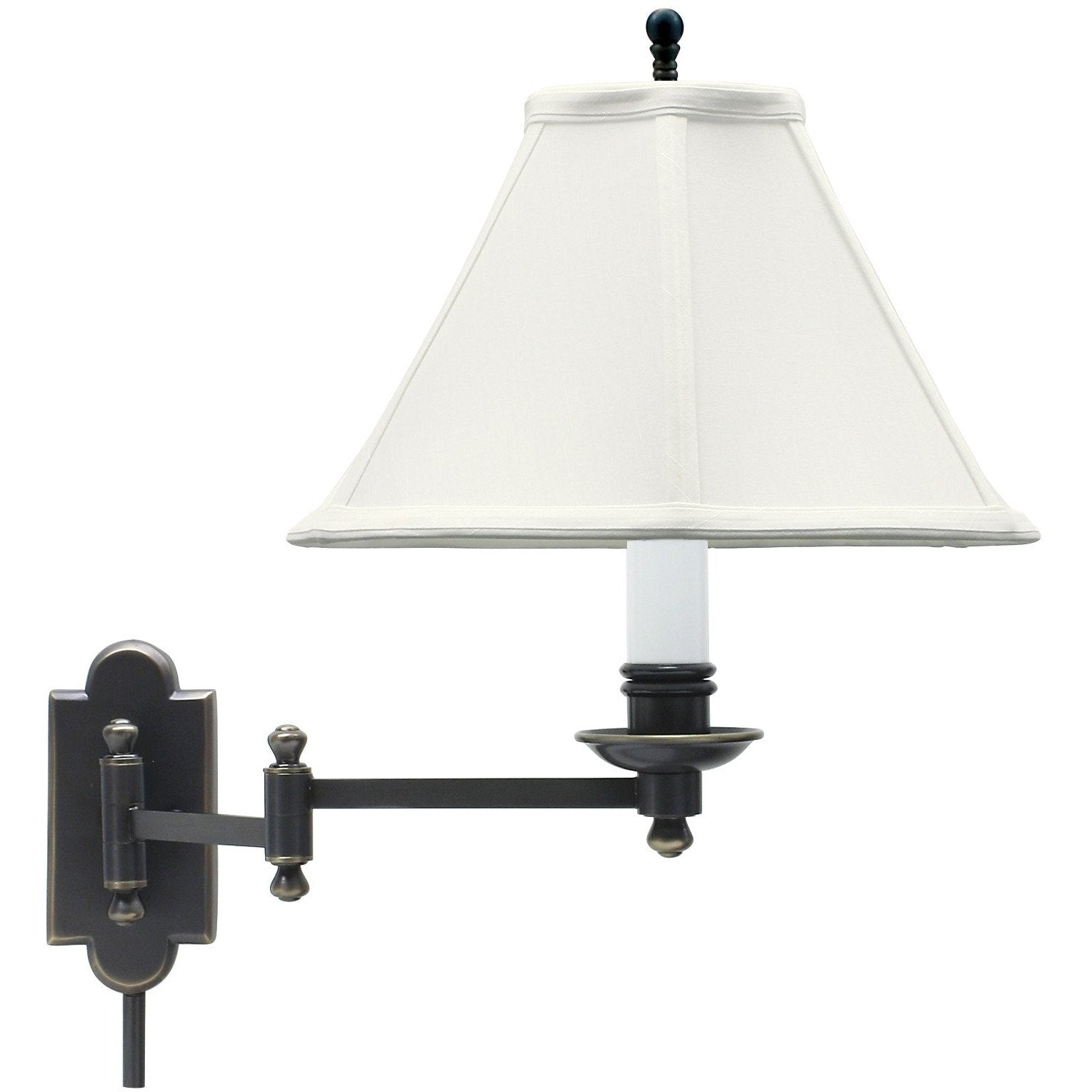 House Of Troy Wall Lamps Club Wall Swing Arm Lamp by House Of Troy CL225-OB