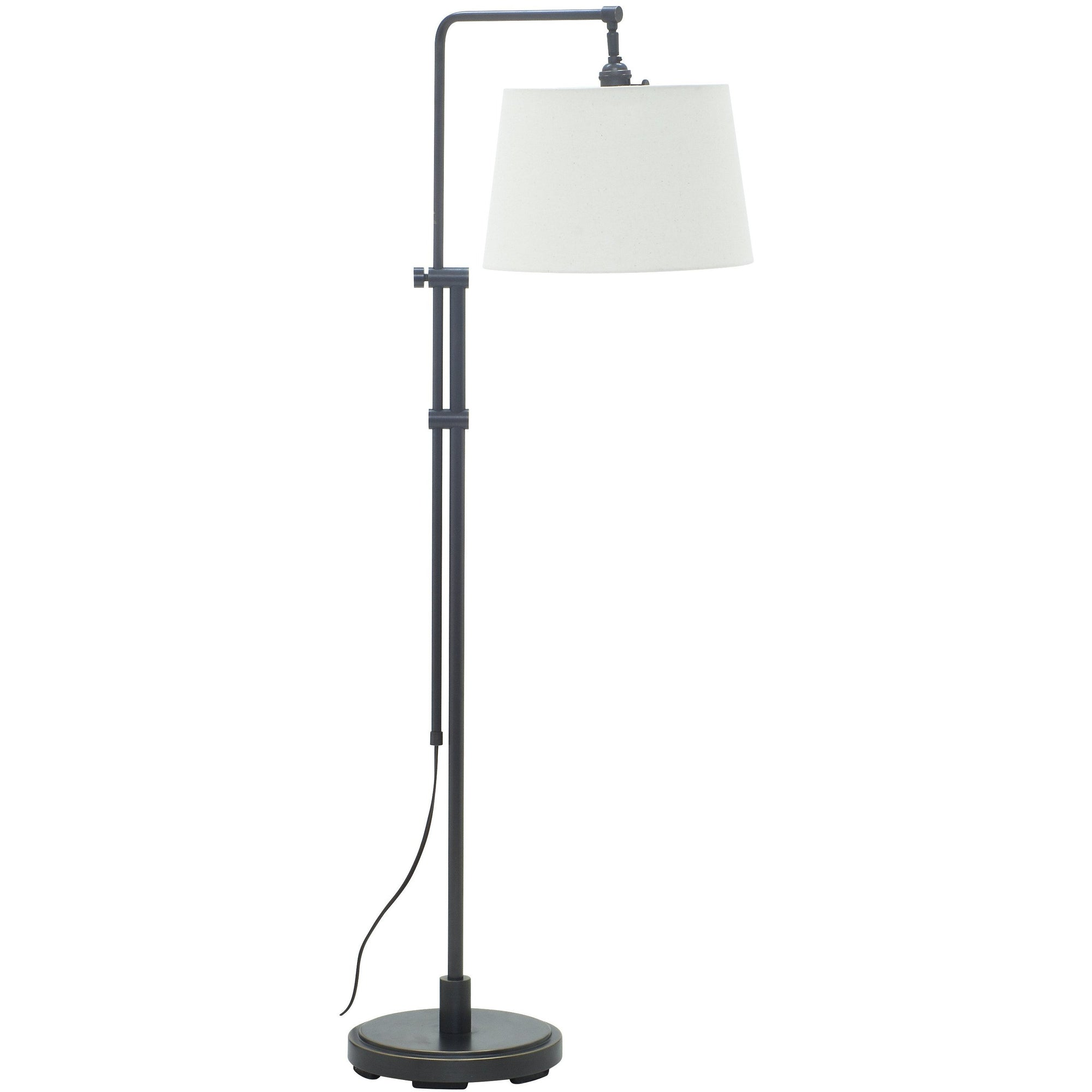 House Of Troy Floor Lamps Crown Point Adjustable Downbridge Floor Lamp by House Of Troy CR700-OB