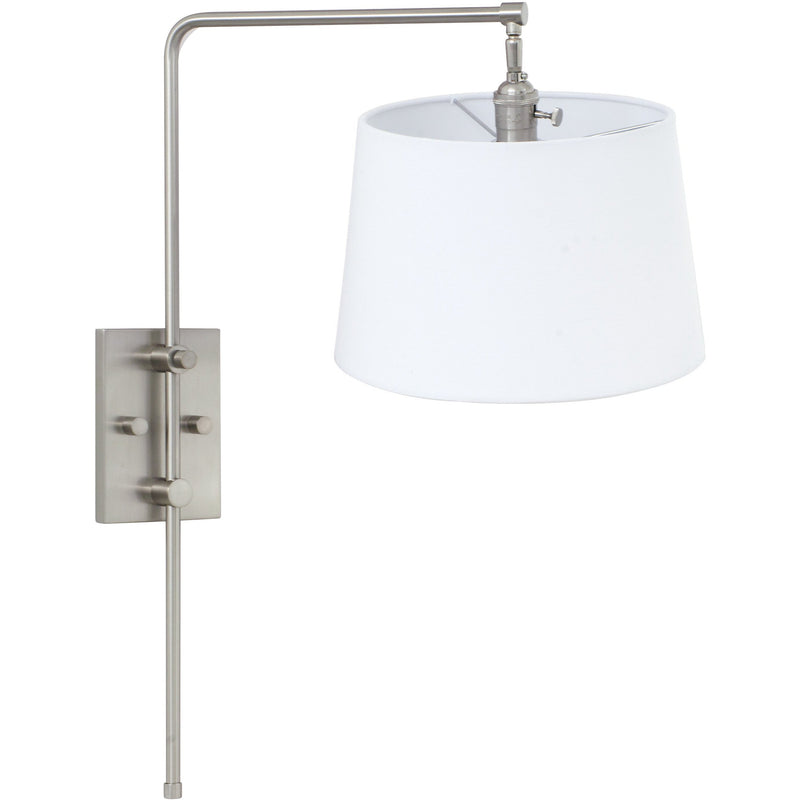 House Of Troy Wall Lamps Crown Point Adjustable Downbridge Wall Lamp by House Of Troy CR725-SN