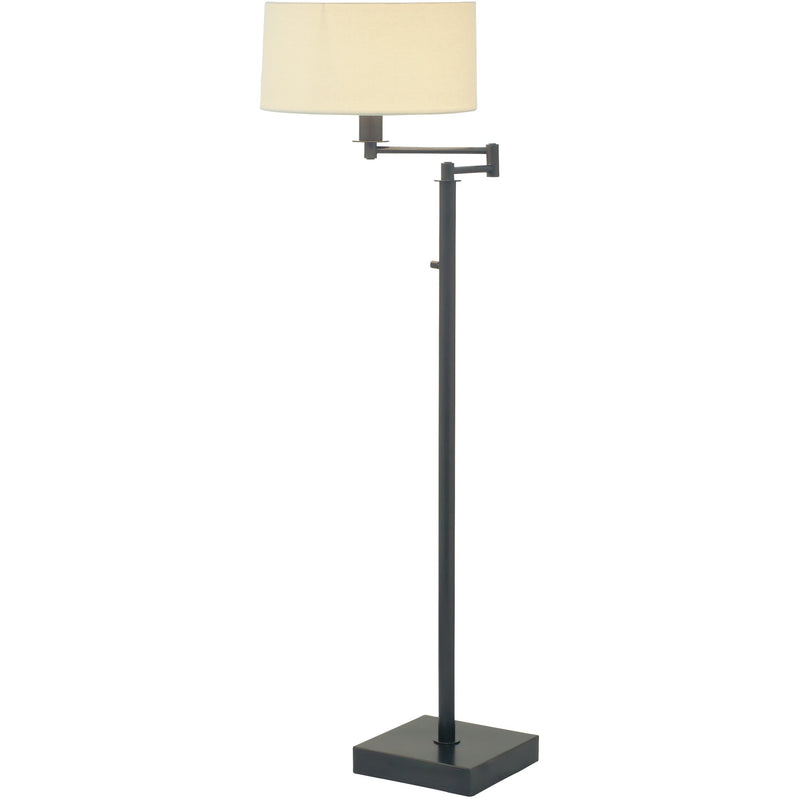 House Of Troy Floor Lamps Franklin Swing Arm Floor Lamp with Full Range Dimmer by House Of Troy FR701-OB