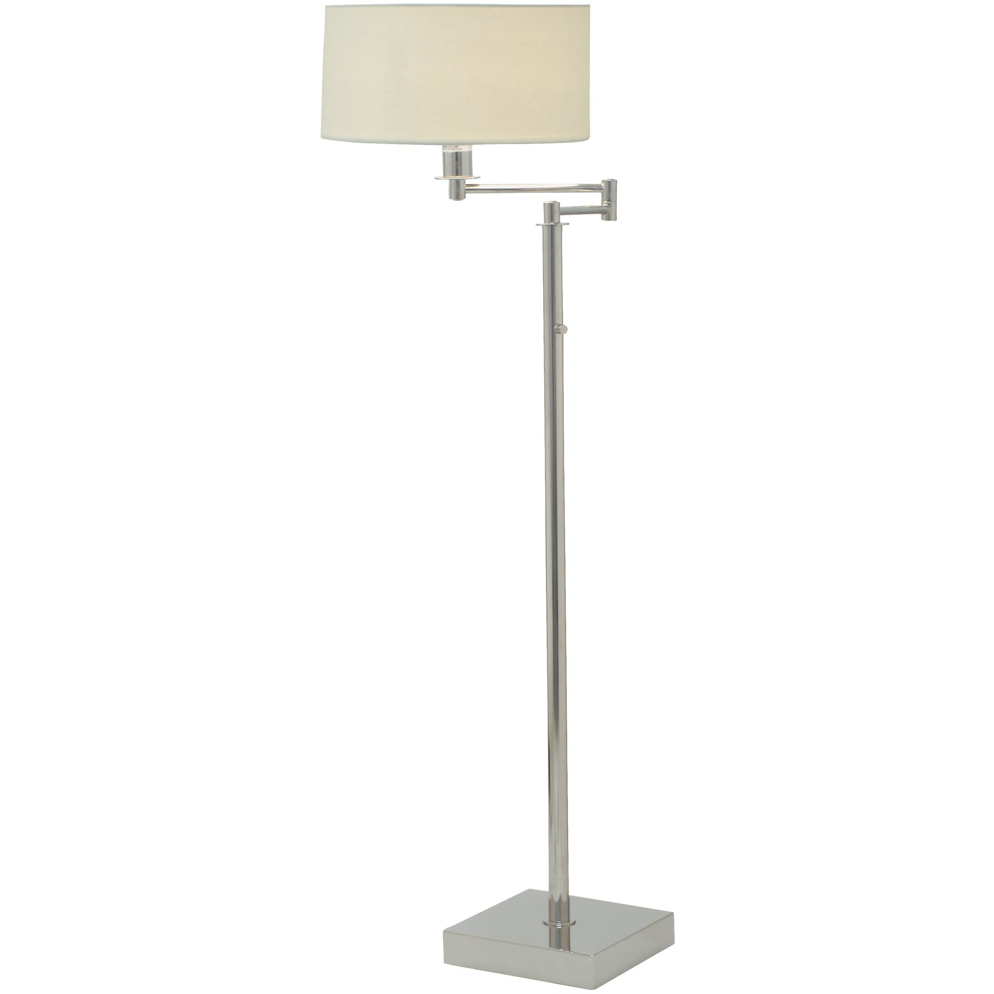 House Of Troy Floor Lamps Franklin Swing Arm Floor Lamp with Full Range Dimmer by House Of Troy FR701-PN