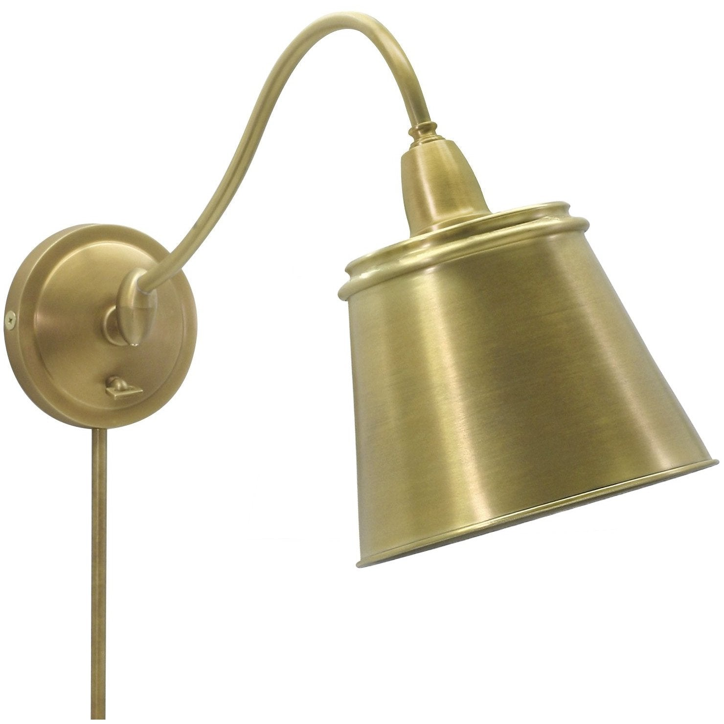 House Of Troy Wall Lamps Hyde Park Adjustable Wall Swing Arm Lamp by House Of Troy HP725-WB-MSWB