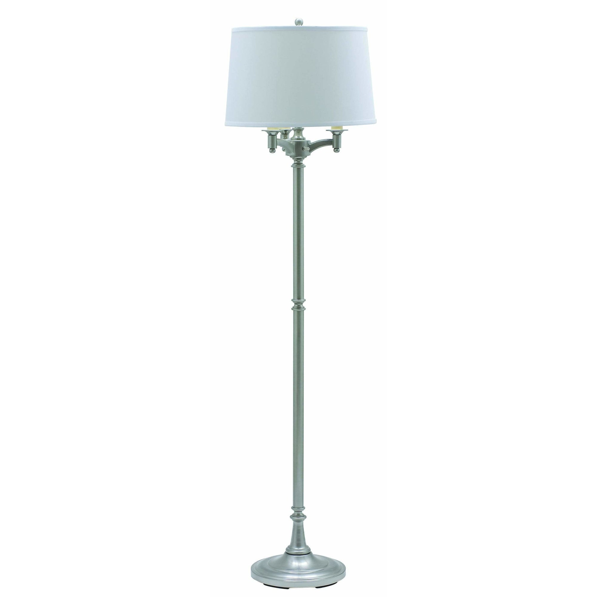 House Of Troy Floor Lamps Lancaster Six-Way Floor Lamp by House Of Troy L800-SN