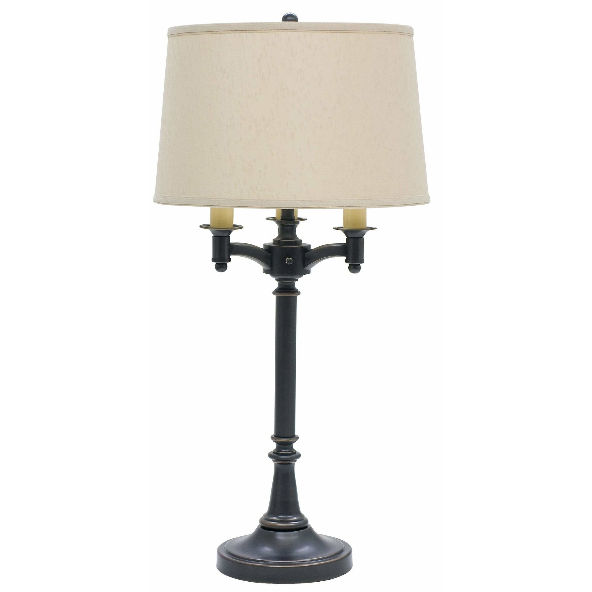 House Of Troy Table Lamps Lancaster Six-Way Table Lamp by House Of Troy L850-OB