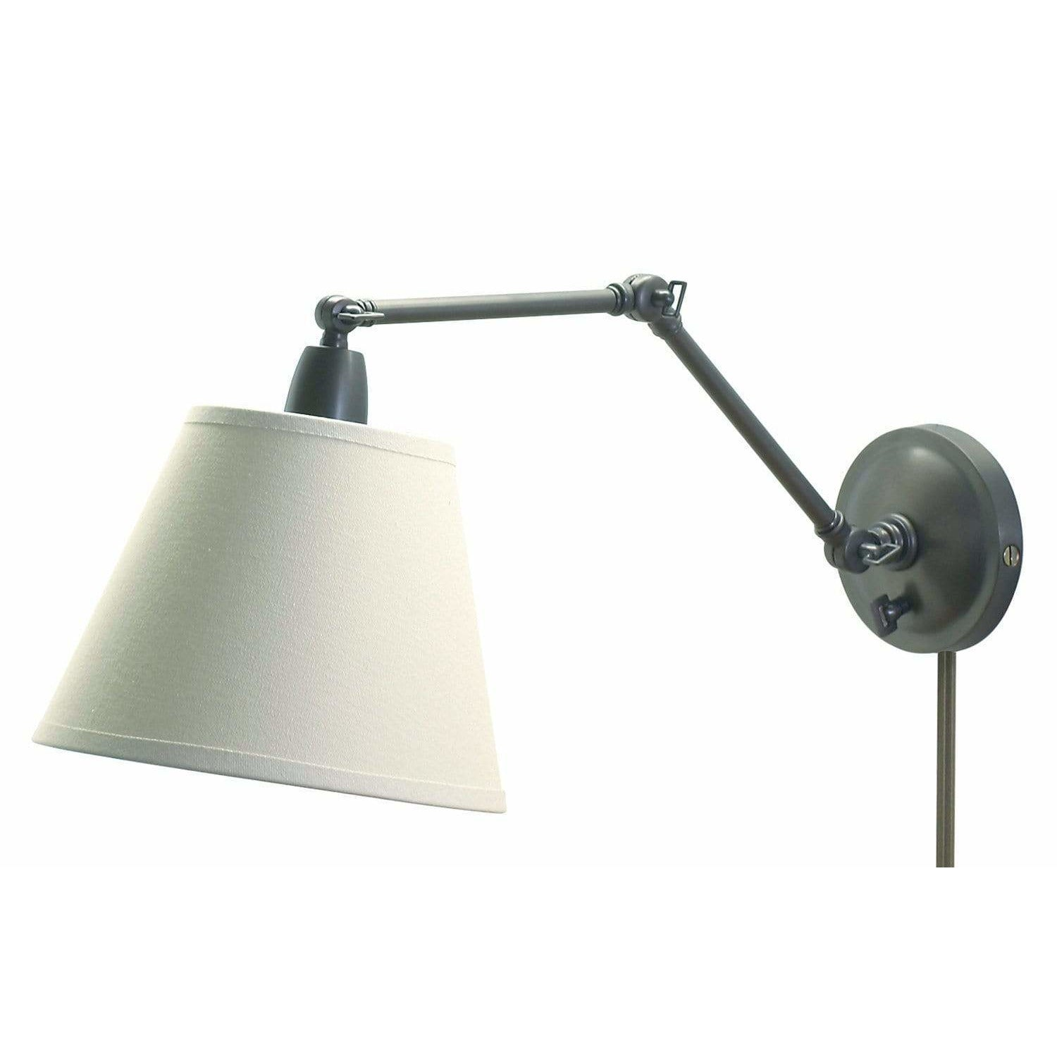 House Of Troy Wall Lamps Library Adjustable Wall Lamp by House Of Troy PL20-OB