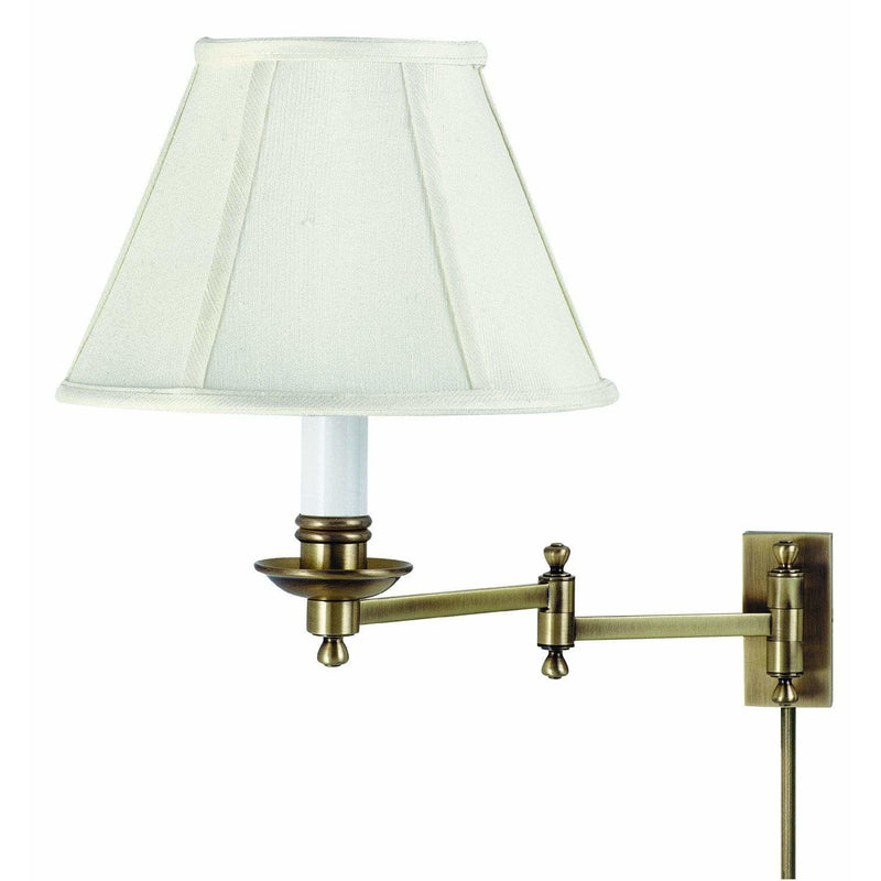 House Of Troy Wall Lamps Library Wall Swing Arm Lamp by House Of Troy LL660-AB