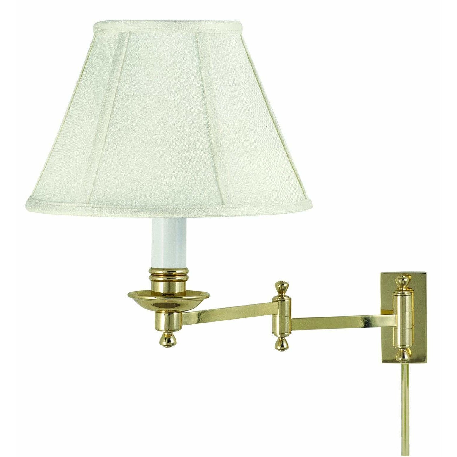 House Of Troy Wall Lamps Library Wall Swing Arm Lamp by House Of Troy LL660-PB