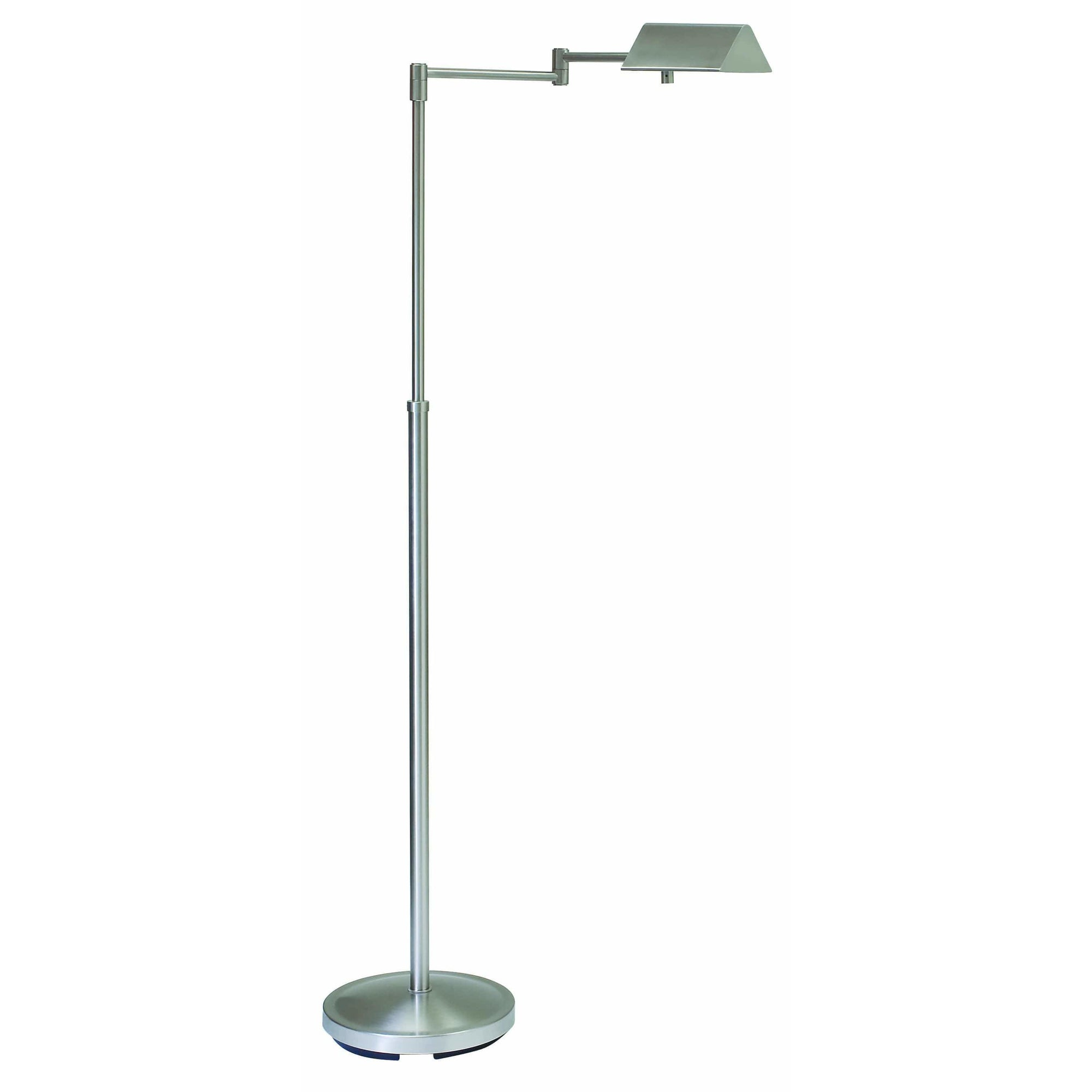 House Of Troy Floor Lamps Pinnacle Adjustable Halogen Floor Lamp by House Of Troy PIN400-SN