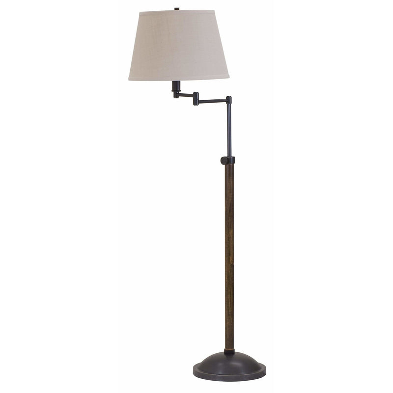 House Of Troy Floor Lamps Richmond Adjustable Swing Arm Floor Lamp by House Of Troy R401-OB