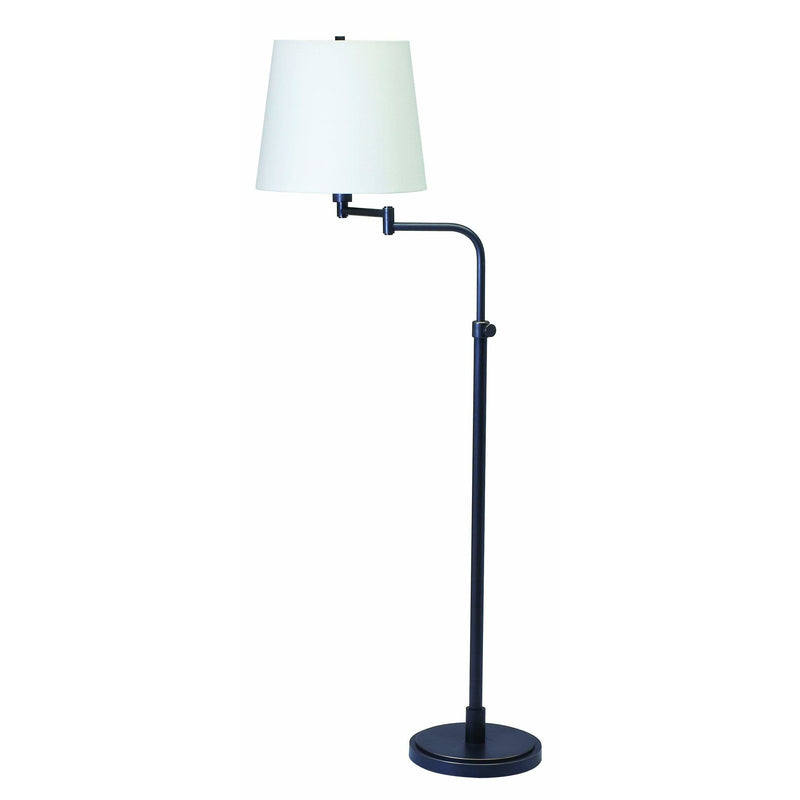 House Of Troy Floor Lamps Townhouse Adjustable Swing Arm Floor Lamp by House Of Troy TH700-OB