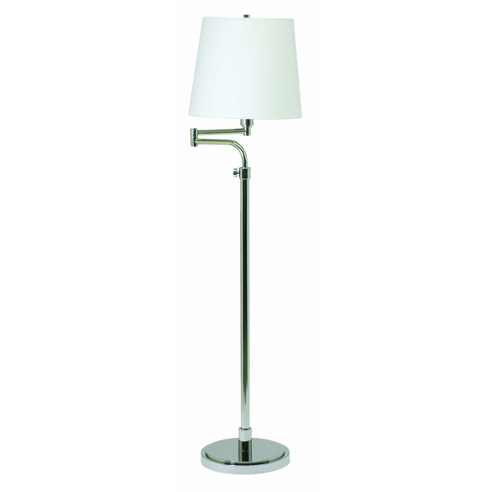 House Of Troy Floor Lamps Townhouse Adjustable Swing Arm Floor Lamp by House Of Troy TH700-PN