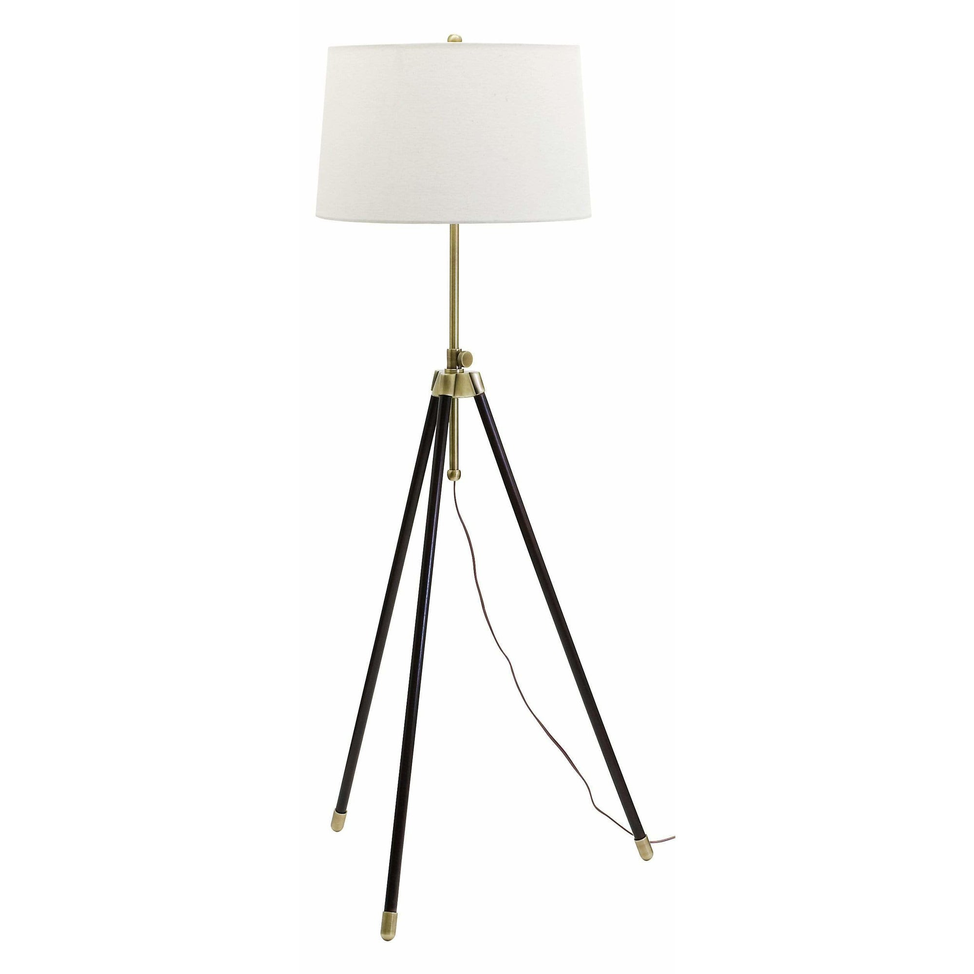 House Of Troy Floor Lamps Tripod Adjustable Floor Lamp by House Of Troy TR201-AB