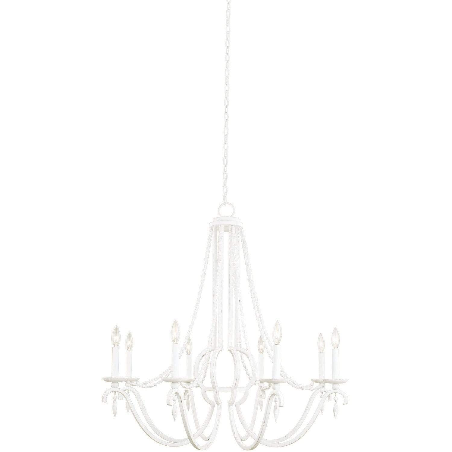 Kalco Lighting Chandeliers Distressed White Acadia 8 Light Chandelier By Kalco Lighting 507271