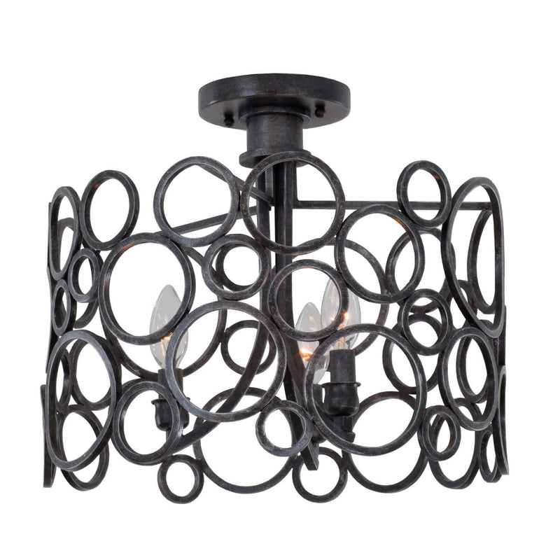 Kalco Lighting Semi Flush Mounts Heirloom Bronze Ashbourne 16 Inch Semi Flush Mount By Kalco Lighting 2764
